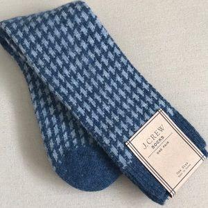Men's J.Crew Wool Blend Houndstooth Socks